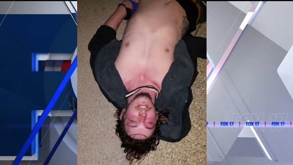 Veltman-Brady on ground during arrest