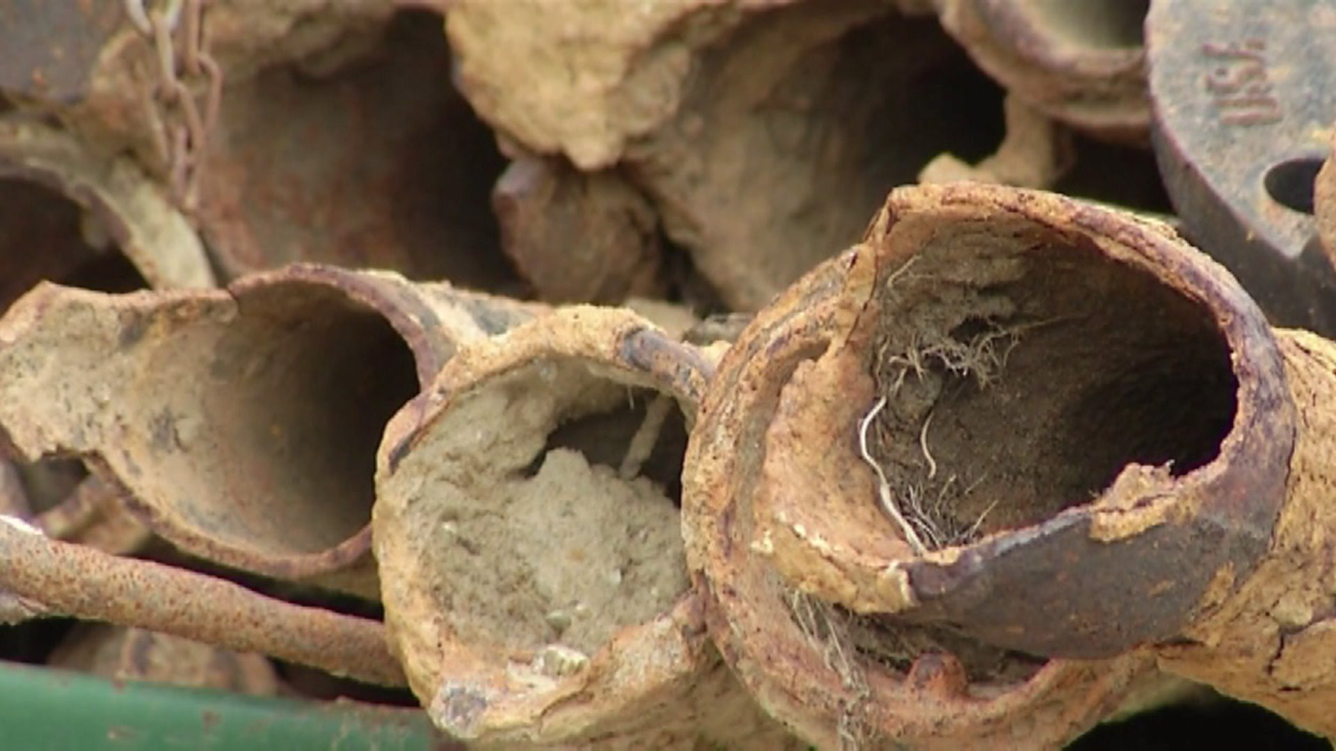 Flint's corroded lead pipes.